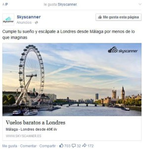 Ejemplo anuncio FacebookAds SMM