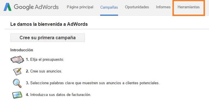 Herramientas Google Adwords