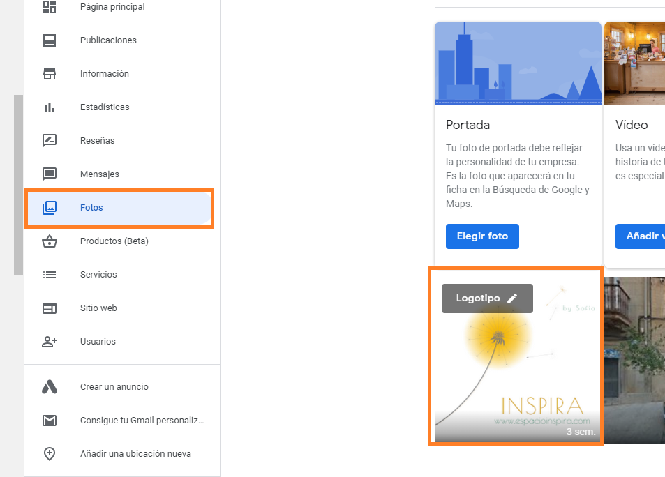 buen logotipo como crear buen perfil google my business