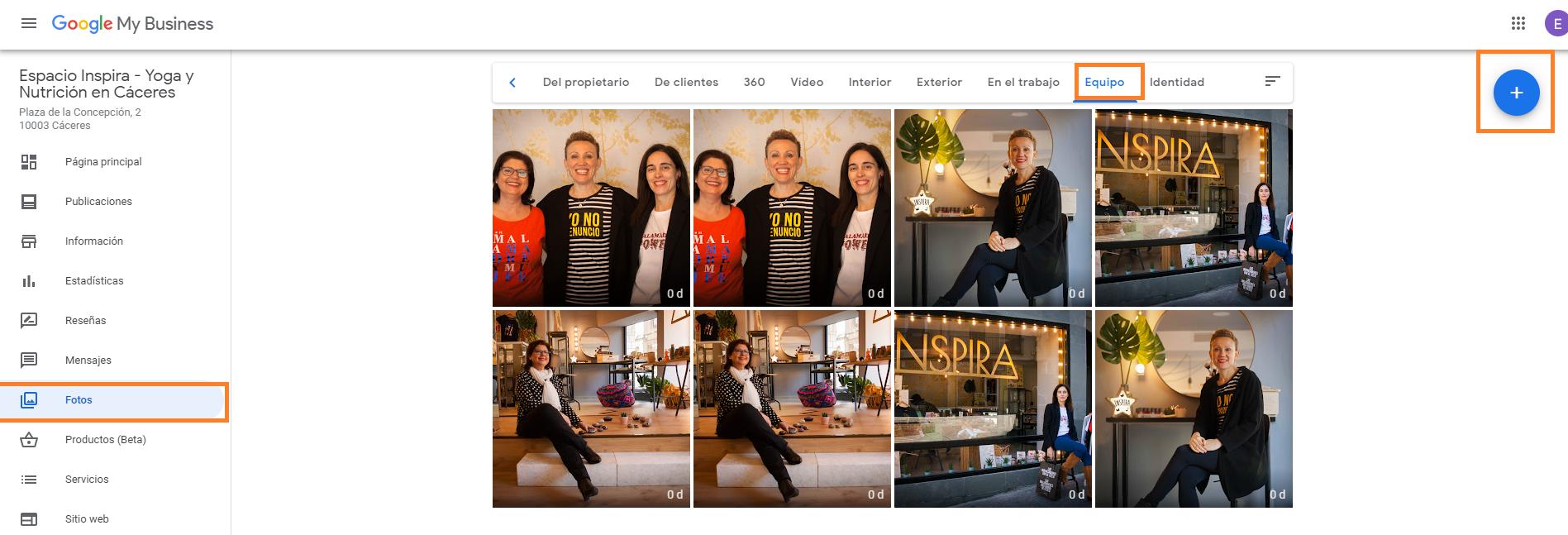 buena FOTOS DE equipo como crear buen perfil google my business