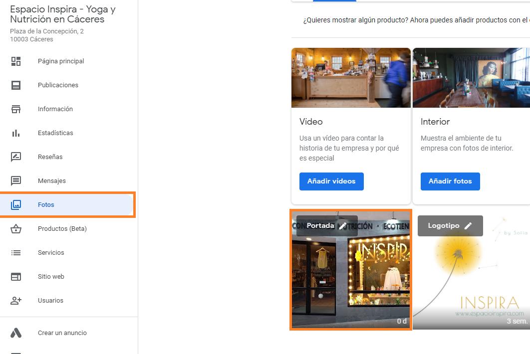 buena portada como crear buen perfil google my business
