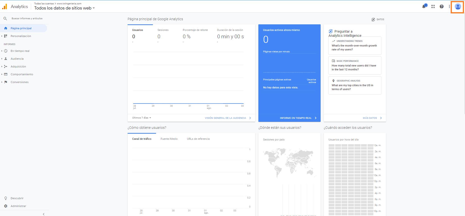 1 como conceder acceso a tu cuenta google analytics