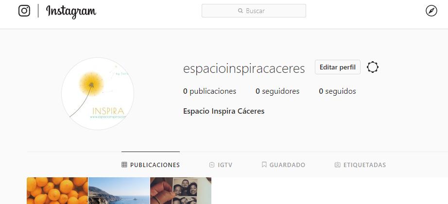 abrir perfil instagram nuevo elementos foto principal