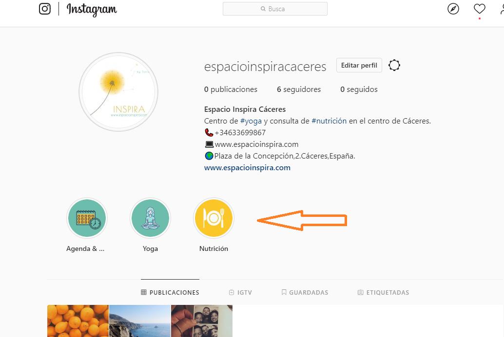 abrir perfil instagram nuevo elementos portada historias destacadas highlights
