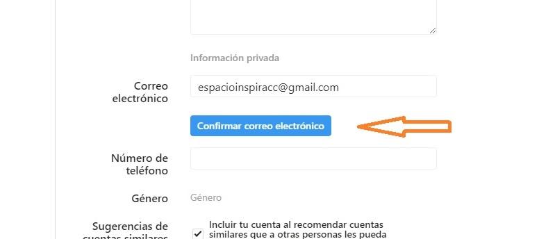 abrir perfil instagram nuevo elementos verificar correo 2