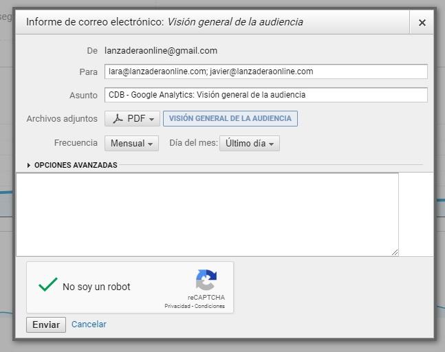 COMO recibir reporte DE google analytics ANALYTICS POR EMAIL AUTOMATICO 3