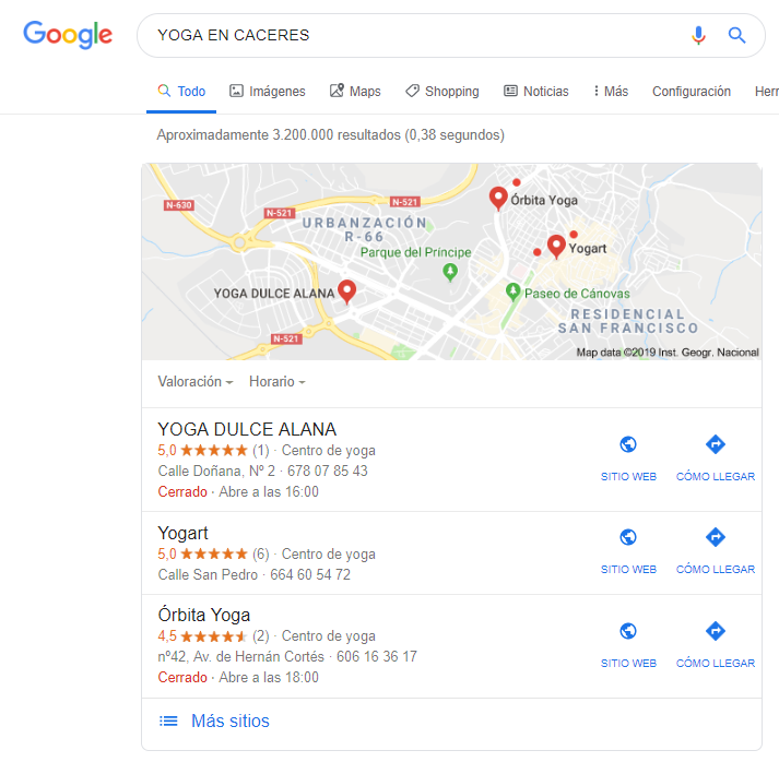 COMPETIDORES EN GOOGLE MY BUSINESS