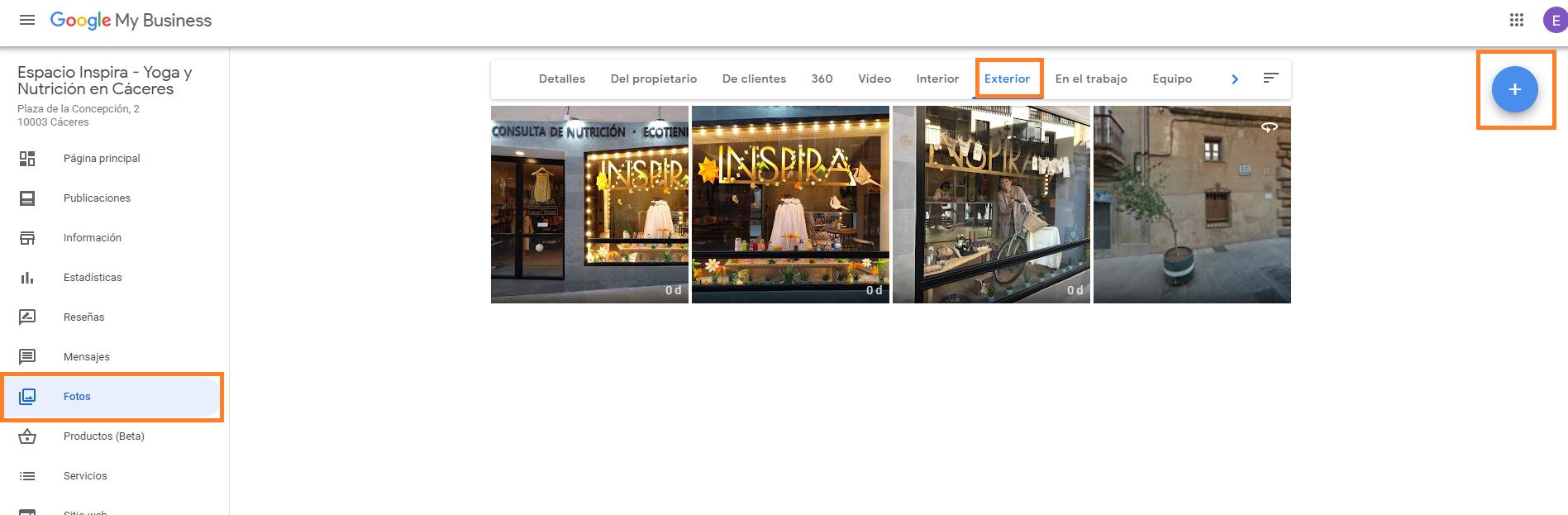 buena FOTOS DE exterior optimizadas como crear buen perfil google my business