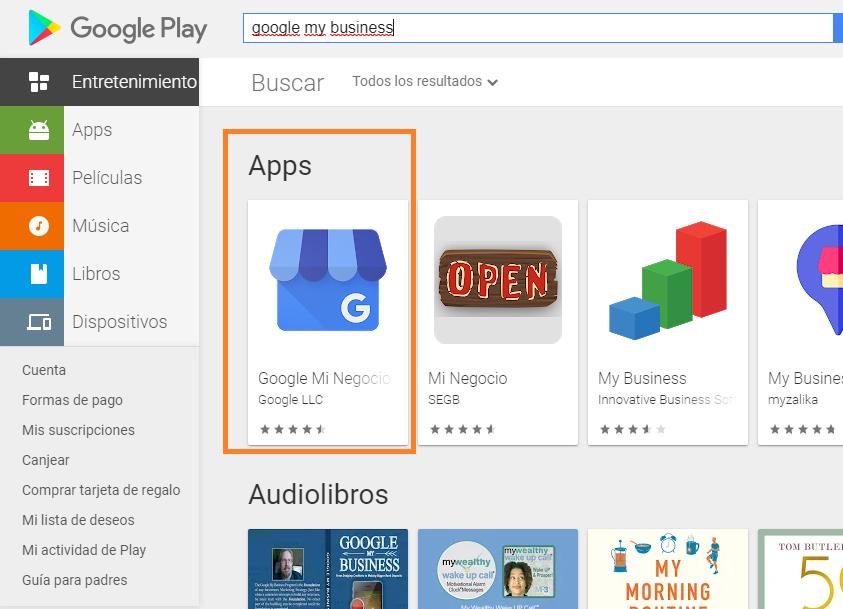como crear buen perfil google my business descargar aplicación