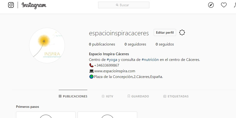abrir perfil instagram nuevo elementos bio