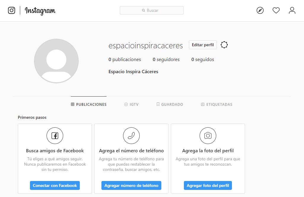 abrir perfil instagram nuevo elementos