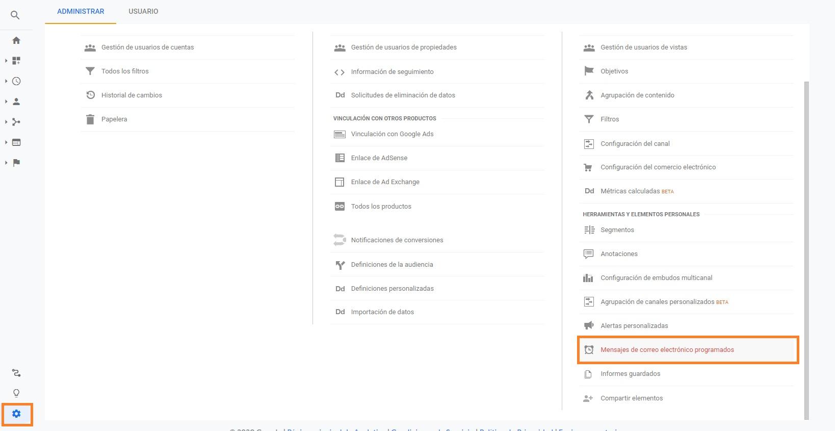 recibir editar cambiar informes de google analyctis por email de forma automatica 9