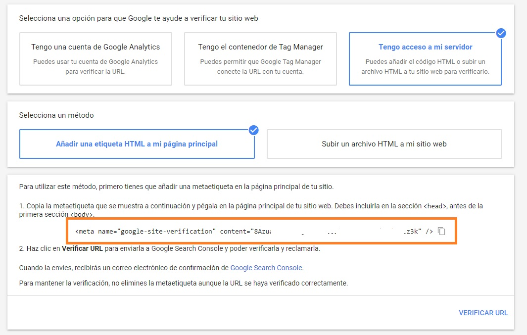 como VERIFICAR url ddominio SITIO WEB EN MERCHANt CENTER PASO A PASO con codigo html