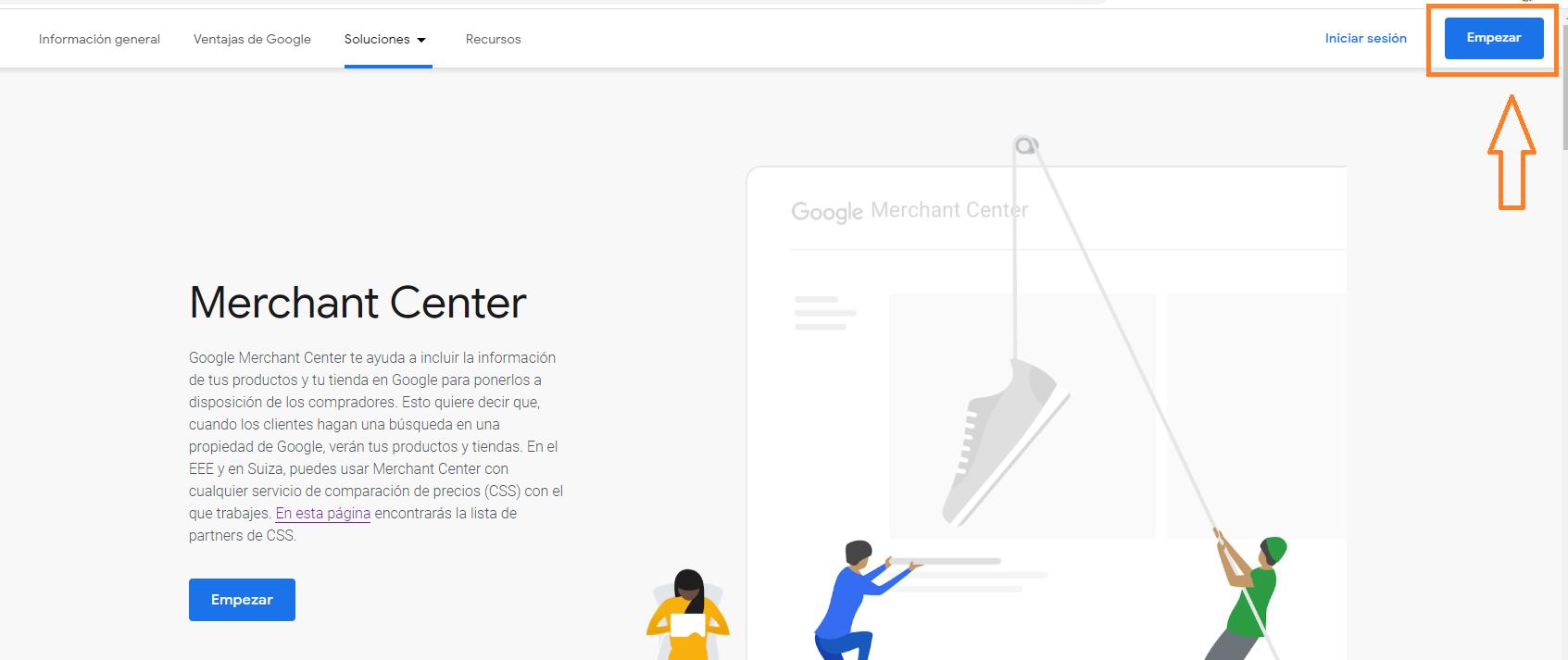 como registrarse en google merchant center